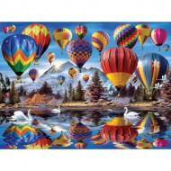 Puzzle  Sunsout-54936 Howard Robinson - Hot Air Balloons