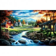 Puzzle  Sunsout-55168 Chuck Black - Country Sunday