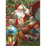 Puzzle  Sunsout-59714 Liz Goodrick Dillon - Ready to Go Santa