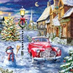 Puzzle  Sunsout-60668 Pièces XXL - A Red Car for Christmas