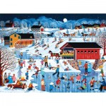 Puzzle  Sunsout-61355 Sheila Lee - More Snow Coming
