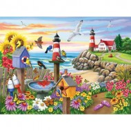 Puzzle  Sunsout-62930 Nancy Wernersbach - Garden by the Sea