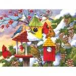 Puzzle  Sunsout-62979 Pièces XXL - Meeting at the Birdfeeder