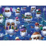 Puzzle  Sunsout-63419 Janet Stever - Night Owls with Hats