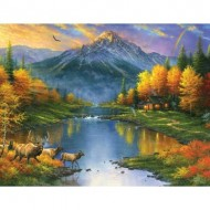Puzzle  Sunsout-69611 Pièces XXL - Abraham Hunter - Mountain Retreat