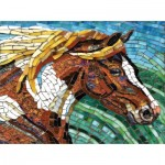Puzzle  Sunsout-70701 Cynthie Fisher - Stained Glass Horse