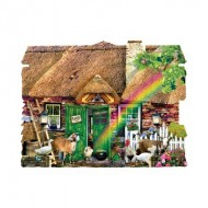 Puzzle  Sunsout-90350 Lori Schory - Irish Cottage