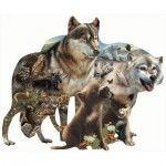 Puzzle  Sunsout-95739 Bonnie, Rebecca and Karen Latham - Wolf Pack