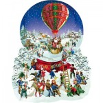 Puzzle  Sunsout-96087 Pièces XXL - Barbara Behr - Old Fashioned Snow Globe