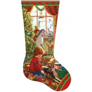 Puzzle  Sunsout-97108 Liz Goodrick Dillon - A Boy's Stocking