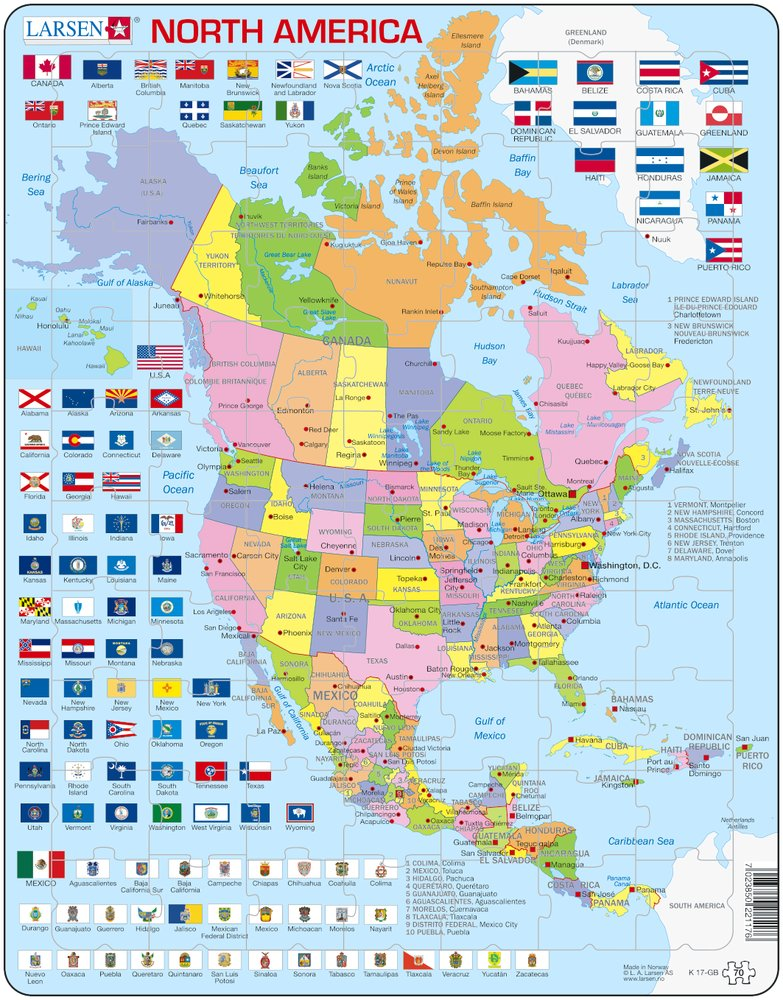 north america map puzzle with Puzzle Cadre Carte De Lamerique Du Nord En Anglais 70 Pieces Larsen Puzzle on Us Landform Map in addition Changes also U S further Map How Democrats And Republicans Changed 2014 6 also Index.