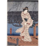Puzzle  Grafika-Kids-00277 Utagawa Hiroshige : Evening on the Sumida River, 1847-1848