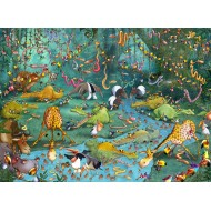 Puzzle  Grafika-Kids-00801 François Ruyer : La Jungle