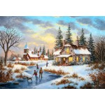 Puzzle  Grafika-Kids-01906 Dennis Lewan - A Mid-Winter's Eve