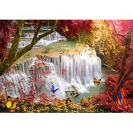 Puzzle  Grafika-Kids-01998 Deep Forest Waterfall