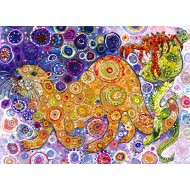 Puzzle  Grafika-Kids-02071 Sally Rich - Otters Catch