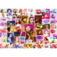 Puzzle  Grafika-Kids-02108 Collage - Femmes