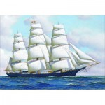 Puzzle  Gold-Puzzle-60775 Antonio Jacobsen: Clipper Ship
