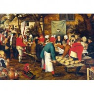 Puzzle  Art-by-Bluebird-Puzzle-60025 Pieter Brueghel the Younger - Peasant Wedding Feast
