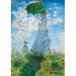 Puzzle  Art-by-Bluebird-Puzzle-60039 Claude Monet - Woman with a Parasol - Madame Monet and Her Son