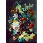 Puzzle  Art-by-Bluebird-Puzzle-60072 Jan Van Huysum - Still Life with Flowers and Fruit, 1715