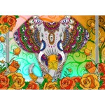 Puzzle  Bluebird-Puzzle-70002 Colorful Elephant