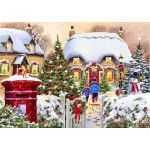 Puzzle  Bluebird-Puzzle-70076 Winter Cottage
