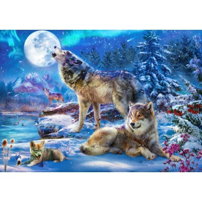 Puzzle Bluebird-Puzzle-70147 Winter Wolf Family