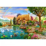 Puzzle  Bluebird-Puzzle-70254-P Lakeside Cottage