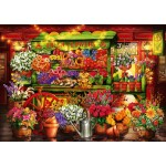 Puzzle  Bluebird-Puzzle-70333-P Flower Market Stall