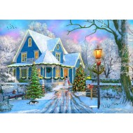 Puzzle  Bluebird-Puzzle-70340-P Christmas at Home
