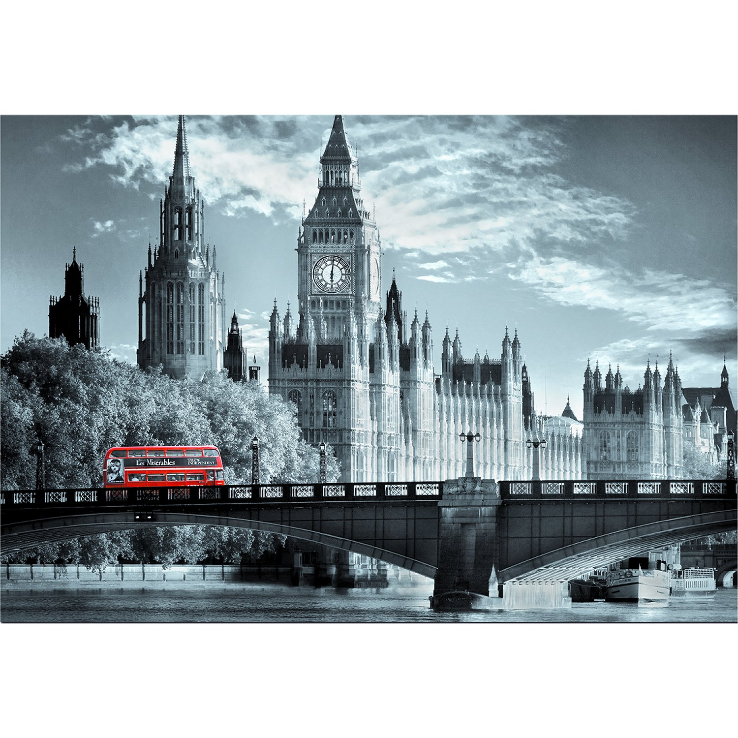 bus londres puzzle 1000 format paysage educa puzzle acheter en ligne. Black Bedroom Furniture Sets. Home Design Ideas
