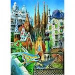 Educa-11874 Puzzle Mini - Gaudi : Collage