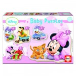 Educa-15612 5 Puzzles Baby - Disney : Minnie