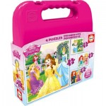 Educa-16508 4 Puzzles - Disney Princesses