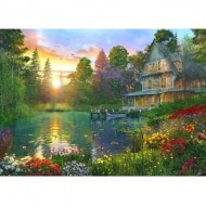 Puzzle  Educa-16746 Pièces XXL - Fishing At Sunset