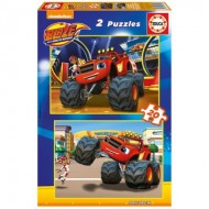 Educa-16820 2 Puzzles - Blaze and The Monster Machines