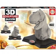 Educa-16967 Puzzle Sculpture - T-Rex