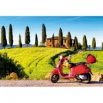 Puzzle  Educa-17121 Scooter in Toscana
