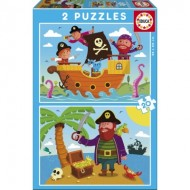 Educa-17149 2 Puzzles - Pirates
