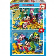 Educa-17631 2 Puzzles - Mickey & the Roadster Racers