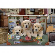 Puzzle  Educa-17645 Puppies in the Luggage
