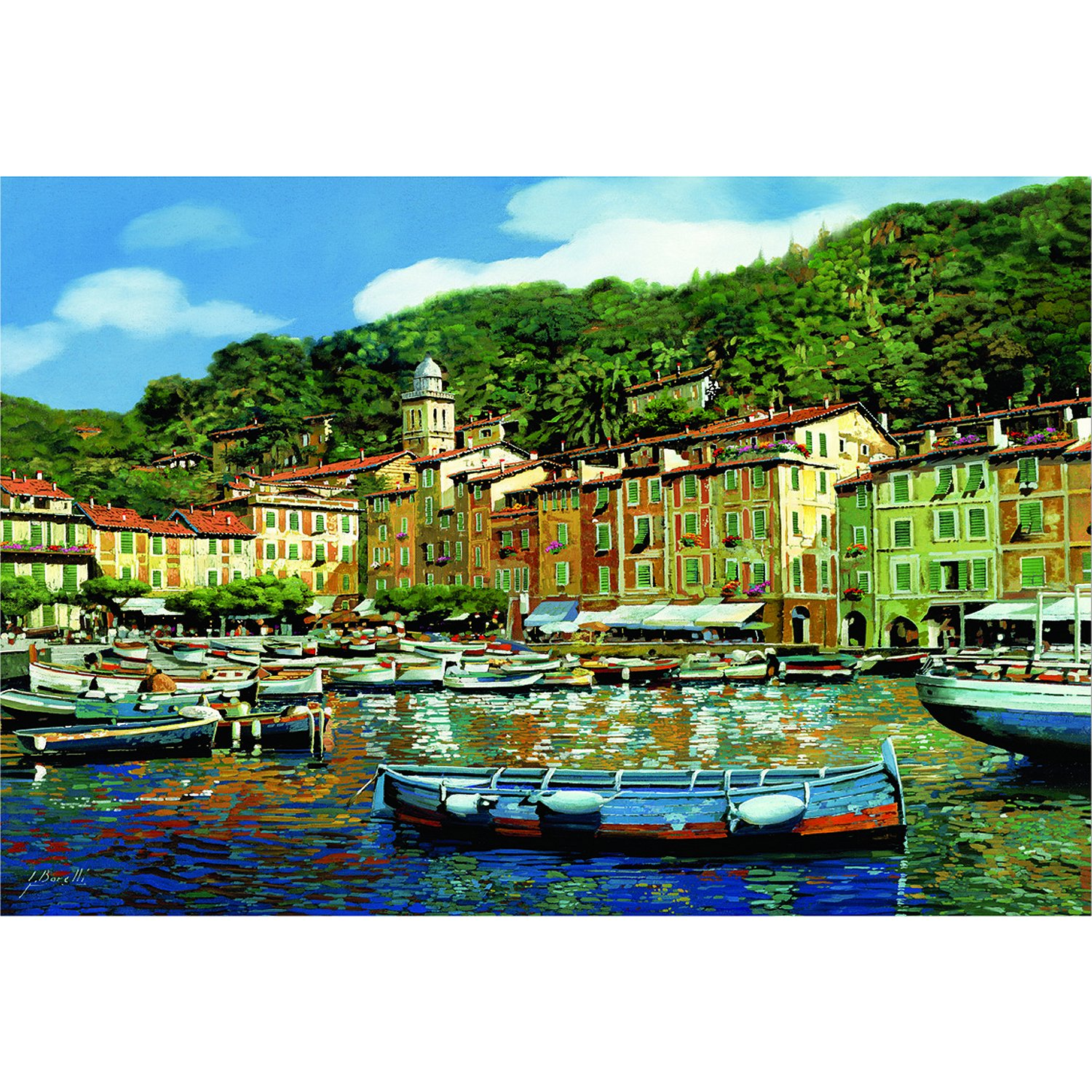 portofino italie puzzle 4000 pi ces format paysage educa puzzle acheter en ligne. Black Bedroom Furniture Sets. Home Design Ideas