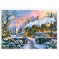 Puzzle  Jumbo-11227 The Whitesmith's Cottage in Winter