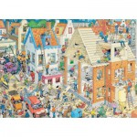 Puzzle  Jumbo-17461 Van Haasteren Jan : Chantier de Construction