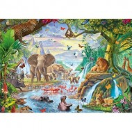 Puzzle  Jumbo-18800 Pièces XXL - Jungle Lake