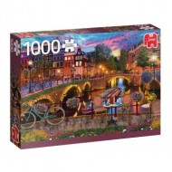 Puzzle  Jumbo-18860 Canaux d'Amsterdam