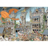 Puzzle  Jumbo-19202 Rob Derks Pieces of History - Le Château