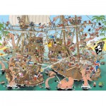 Puzzle  Jumbo-19204 Pieces of History - Les Pirates