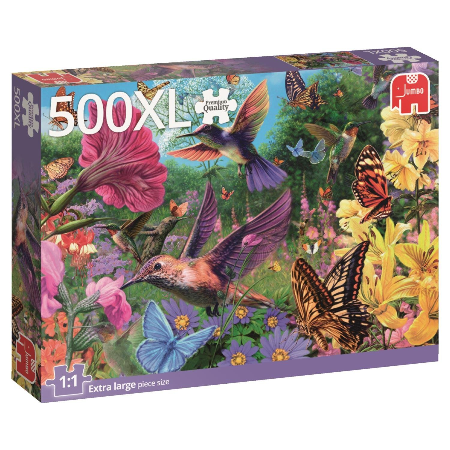pi ces xxl colibris 500 teile jumbo puzzle acheter en ligne. Black Bedroom Furniture Sets. Home Design Ideas